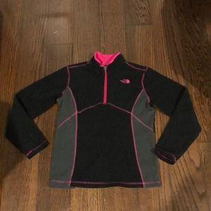 The North Face black 1/4 zip up fleece jacket 14-1